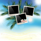 Solar gierki day with photos on Marine abstract background Stock Image