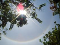 Solar Halo. Is when there is a ring around the sun Royalty Free Stock Photo