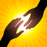 Solar handshake Stock Photos