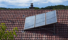 Solar heat collector Stock Photography