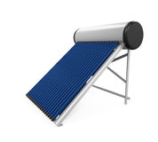 Solar Heat Pipe Collector. Isolated on white background. 3D render Stock Images