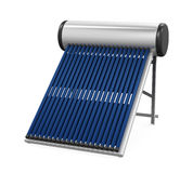 Solar Heat Pipe Collector. Isolated on white background. 3D render Stock Photo