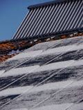 Solar heat roof winter Stock Images