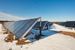 Solar heating plant Stock Images