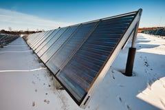 Solar heating plant Stock Photos