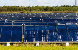 Solar heating plant Royalty Free Stock Photography