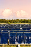 Solar heating plant Stock Image