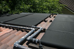 Solar Heating System Stock Photography