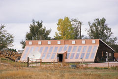Solar home Stock Photography