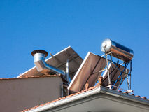 Solar Hot Water Heater Stock Photos