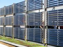Solar Hot Water Heating stock photo