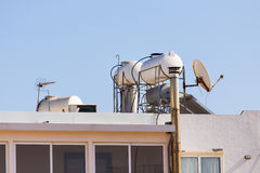 Solar Hot Water System. Royalty Free Stock Image