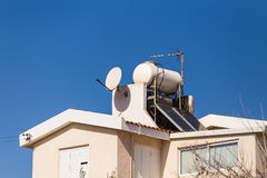 Solar Hot Water System. Stock Photo