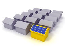 Solar house. A solar energy smart house Royalty Free Stock Images