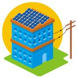 Solar house Stock Image