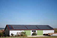 Solar house Stock Photo