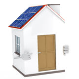 Solar house figure Royalty Free Stock Photos
