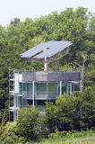 Solar House in Freiburg. Solar House That Automatically Turns To The Sun Stock Photo