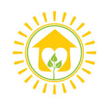 Solar House plants. Royalty Free Stock Images