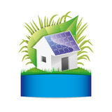Solar house. Stock Photo