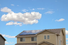 Solar Houses Royalty Free Stock Photos