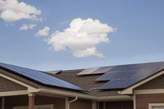 Solar Houses Royalty Free Stock Images