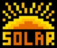 Solar icon Royalty Free Stock Photos