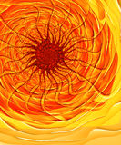Solar Inferno - Fractal Image Stock Photography