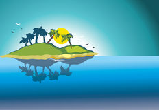 Solar island Stock Photos