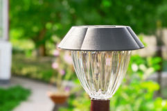 Solar lamp closeup Royalty Free Stock Image