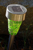 Solar lamp garden Stock Photo