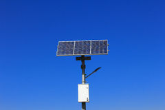 Solar lamp pole Stock Images