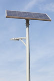 Solar lamp post Stock Photography
