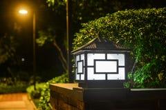 Solar lawn light garden landscape lamp pole lamp Stock Photos