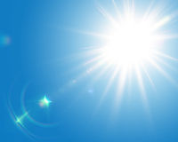 Solar lens flare Stock Images
