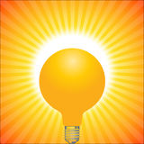 Solar light. Illustration of solar light on sun raise background Stock Image