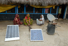Solar light at Indian at village stock images