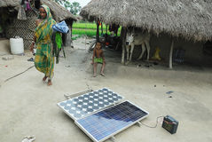 Solar light at Sundarban. Royalty Free Stock Photos