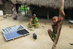 Solar light at Sundarban. Royalty Free Stock Photography