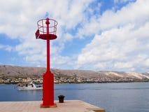 Solar lighthouse Stock Image