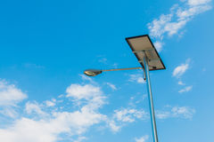 Solar lighting. Middle cloud sky Royalty Free Stock Images