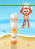 Solar lotion Royalty Free Stock Image