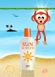 Solar lotion Royalty Free Stock Photography