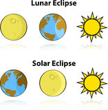 Solar and Lunar Eclipse Royalty Free Stock Photography