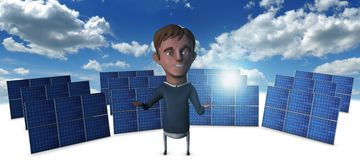 Solar Man 3 Royalty Free Stock Photos