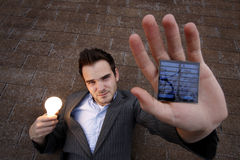 Solar Man Royalty Free Stock Photos