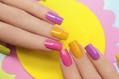Solar Manicure. Royalty Free Stock Images