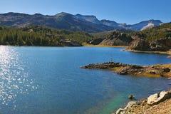 Solar midday in lake Stock Photos