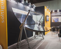 Solar mirror on display at Solarexpo 2014 in Milan, Italy Royalty Free Stock Photo