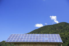 Solar modules on roof Royalty Free Stock Photography